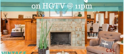 HGTV and an all new episode of Vintage Flip.