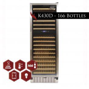 nuevofoto model k430d 166bottles wineecooler 01 293x293 - K430D - 166 Bottles